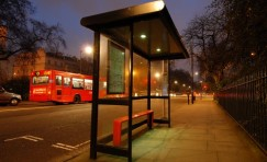 view of a bus shelter to represent Trueform's product catalogue.