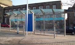 bus shelter in Burslem town centre.