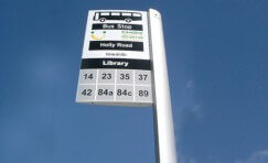 bus stop sign to represent Nottingham Council contract awarded Trueform.