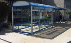 bus shelter in Nottingham to represent Council contract awarded Trueform.