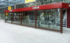 view of a costa anti terrorism bomb blast resistant shelter.