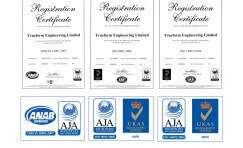 view of ISO 9001 quality, ISO 14001 environmental and OHSAS 18001 health and safety accreditations.