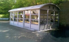 view of installed prestige waiting shelter