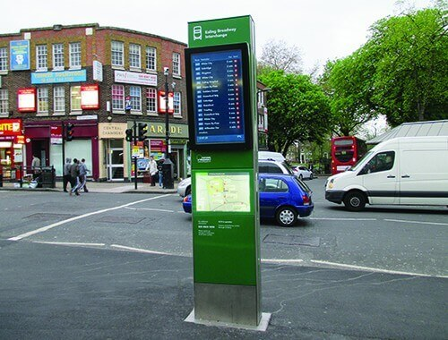 Bus Interchange Totem Digital Signage Trueform