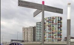 Queen Elizabeth Olympic Park fingerpost sign.