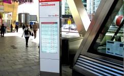 view of installed Tfl digital totem.