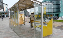 Glasgow Fastlink waiting shelter installed by Trueform.