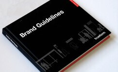 "Trueform branded book titled ""Brand Guidelines""."