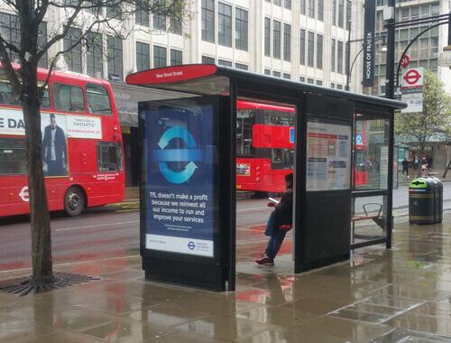 TfL Advertising Bus Shelter