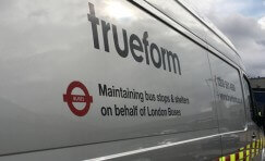 close up view of a Trueform fleet vehicle.