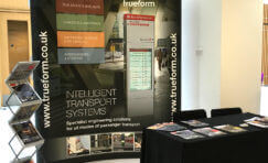 Trueform stand at 14th annual transport practitioners meeting.