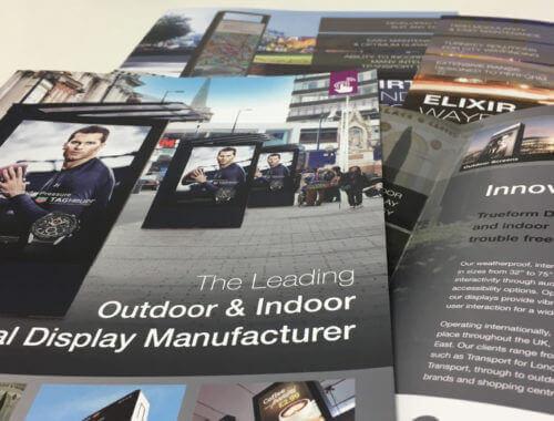 multiple Trueform brochures.