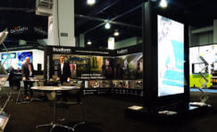 Trueform exhibition stand at Digital Signage Expo.