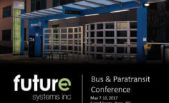 APTA bus and paratransit conference advertisement.