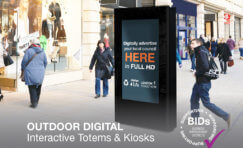 outdoor digital interactive totem.