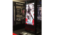 digital totem at retail digital signage expo.
