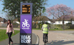 cycle and pedestrian counting kiosk.