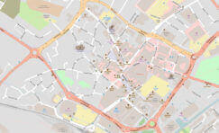 zoomed in map of a section of Aylesbury.