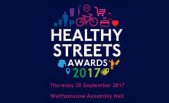 Healthy Streets Awards 2017 advertisement.