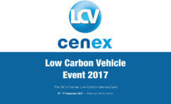 Low carbon vehicle 2017 event advertisement.