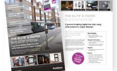 Trueform E-Paper Display Bus Stop